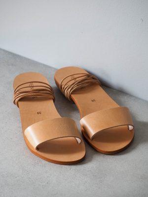 Minimalist leather sandals
