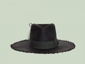Straw Hat in Black