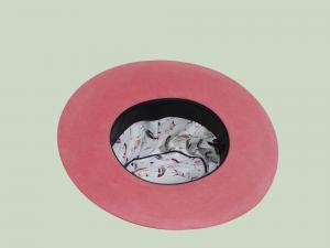 Fur Felt Hat in pink
